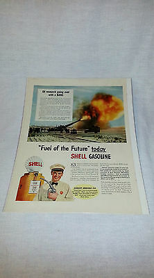 """Vintage 1941 Shell Gasoline Life Magazine Ad """"Fuel Of The Future Today"""""""
