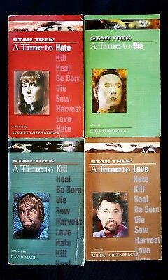 Lot Of 4 Star Trek Books - The Next Generation A Time To Love Kill Die Hate (PB)