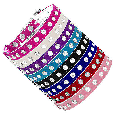 Diamante Bling Crystal Rhinestone Velvet Cat Safety Collar & Bell
