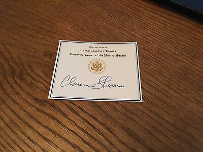 Clarence Thomas Signed Bookplate Supreme Court Justice United States Autograph