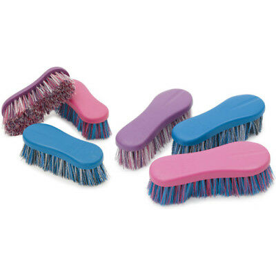 Shires Dandy Brush Unisex Horse Care - Pink All Sizes
