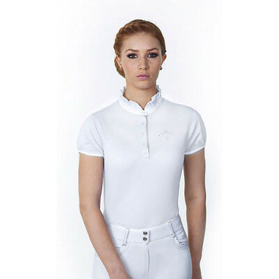 Just Togs Jewel Womens Shirt Competition - White All Sizes