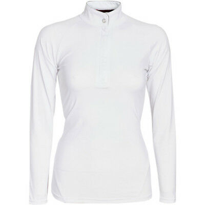 Horseware Sara Long Sleeve Womens Shirt Competition - White All Sizes