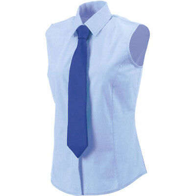 Equetech Sleeveless Stretch Womens Shirt Competition - Sky Blue All Sizes