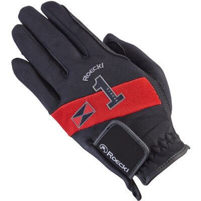 Roeckl Advanced Sport Unisex Gloves Everyday Riding Glove - Red/black All Sizes