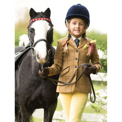 Equetech Childrens Wheatley Deluxe Tweed Kids Jacket Competition - Brown