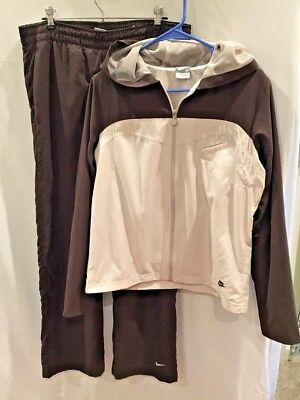 NIKE Women's Mesh Lined Full Zip Retro Athletic Warm-up Track Suit  Size Medium