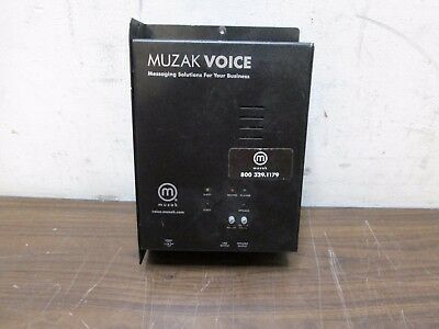 MUZAK VOICE MZ3020 CD Player Messanging Solutions USED FREE SHIPPING