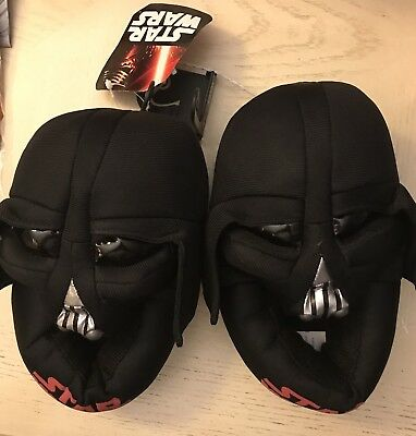 NWT Disney Star Wars  Darth Vader helmet boys slippers house shoes Size 7/8