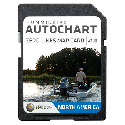 Humminbird AutoChart Zero Lines Map Card 600033-1 Hummingbird ZLINE SD N AM