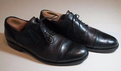 Bragano Crafted in Italy Men's Black & Brown Cap-Toe Derby Sz 11-1/2 M
