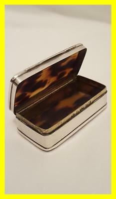 Good Georgian Silver/tortoiseshell Snuff Box,birmingham 1829, Thomas Smith