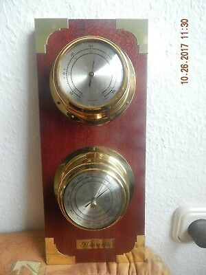 Alte Hanseatic Maritime Wetterstation Thermometer-Barometer West Germany