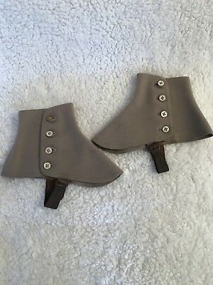 Brooks Brothers boot spats. Wool/felt with leather straps. Good condition