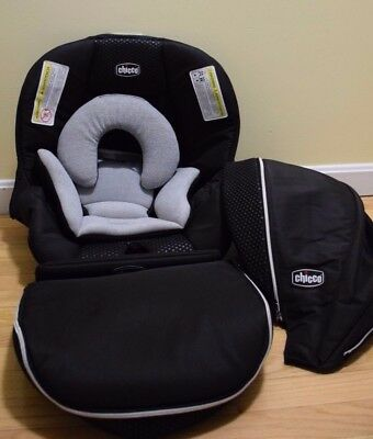 Chicco Keyfit Zip 30 22 Infant Car Seat Cover Replacement Canopy Chico Black Pad