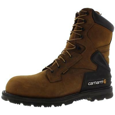 Carhartt 0149 Mens Brown Leather Waterproof Work Boots Shoes 13 Wide (E) BHFO