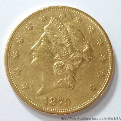 1879 S Coronet Double Eagle Gold $20 Twenty Dollar United States American Coin