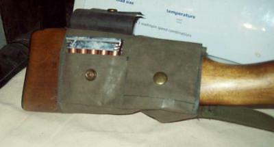 buttstock AMMO pouch/ GREEN/ mauser/ G-43/ P-17/ SMLE/ nagant/ springfield/ XMAS