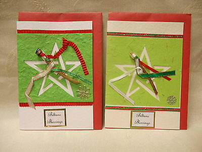 2 x hand-made Beltane cards & envelopes - wicca / pagan / druid  - set B