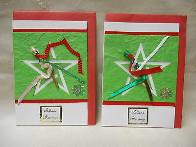 2 x hand-made Beltane cards & envelopes - wicca / pagan / druid  - set A