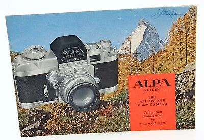 Alpa Reflex, The All-In-One 35mm Camera instruction Book, vintage #363771