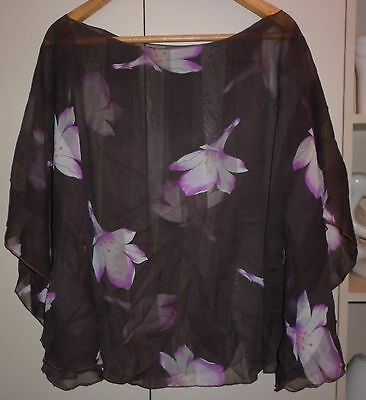 Vintage Summer Floral Poncho/cover Up Excellent Condition