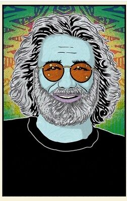 Chuck Sperry Built to Last Jerry Garcia Poster Signed xx/500 Sold Out