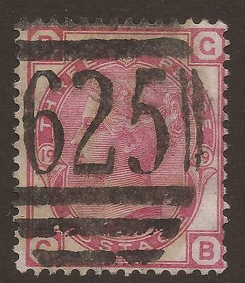GREAT BRITAIN. QV. 3d ROSE PLATE 19. PORTSMOUTH 625 POSTMARK. LETTERS BG. USED.