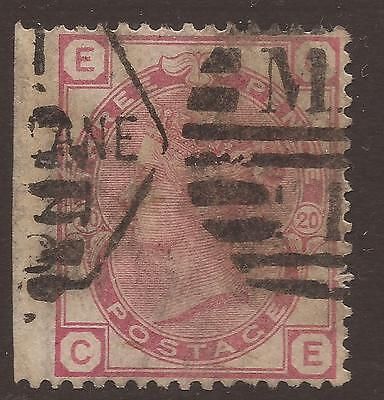 GREAT BRITAIN. QV. 3d ROSE PLATE 20. LETTERS EC. USED.