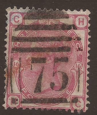 GREAT BRITAIN. QV. 3d ROSE PLATE 16. BIRMINGHAM 75 POSTMARK. LETTERS CH. USED.