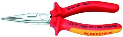 Knipex 25 06 160 6-1/4-Inch Chain Nose Pliers with Cutter - 1,000 Volt