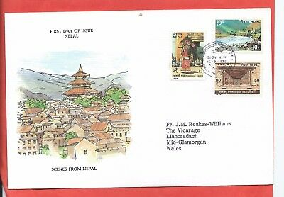 Nepal stamps. 1978 Scenes FDC (A521)