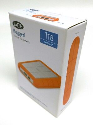 LaCie Rugged Triple USB 3.0 / Firewire 800 1TB Portable Hard Drive NEW SEALED!