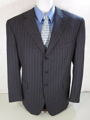 SEAN JOHN Mens Sport Coat 46 Reg Classic Fit Pin Stripes 3 Button Dual Vents