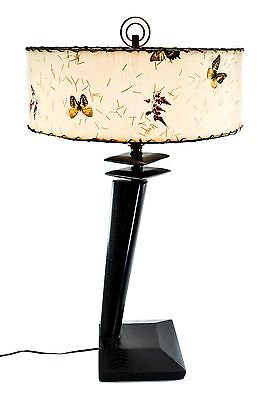 Vintage Mid Century Modern 1950's Table Lamp w Vintage Butterfly Shade