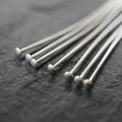 Silver Plated Jewellery Findings Flat End Headpins