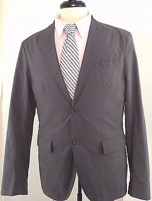 Men's UNIQLO sz Med Gray Polyester Nylon Jacket Blazer