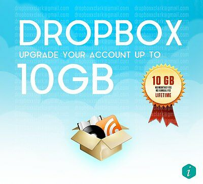 Increase your Dropbox by 10 GB Storage Space