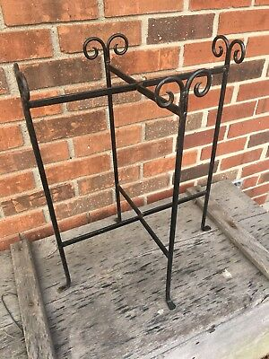 Vintage Wrought Iron Plant Stand Folding