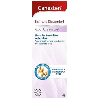 Canesten Intimate Discomfort Cool Cream Gel 15g Thrush Itch Sweat Chafing