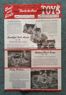 Built-Rite Toys,Lafayette,IN.,Catalog Mailer Packet,1943