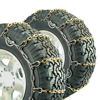 Titan Alloy Square Link Truck CAM Tire Chains On Road Ice/Snow 7mm 295/75-22.5