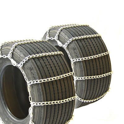 Titan Truck Link Tire Chains Wide/Dual CAM On Road Snow/Ice 8mm 15-19.5