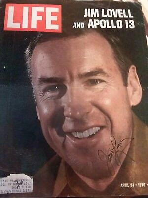 jim lovell autographed life magazine cover