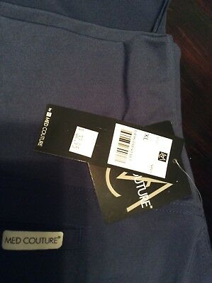 Med Couture Women's Maternity Scrub Pant Style 8727 XL NAVY FREE SHIPPING!!!