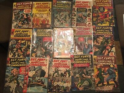 Sgt fury and his howling commandos silver age comic lot