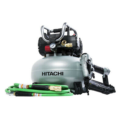 Hitachi 2 Pcs. Pancake Compressor KNT50AB Recon