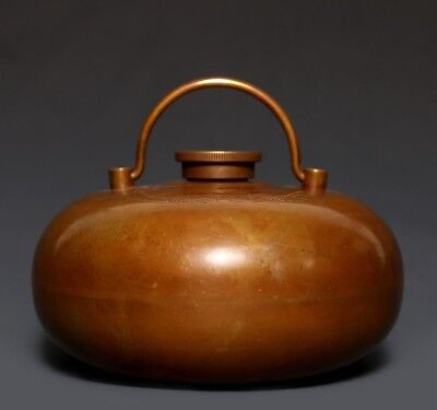 Brillaint Rare Antique Chinese Bronze Jar Pot Carved Long Feng Mark Ji Tao US347
