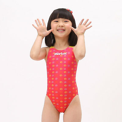 Girls MARIUM One Piece Competition Swimsuit - Childrens Sz 140 / 8 8Y US - Red