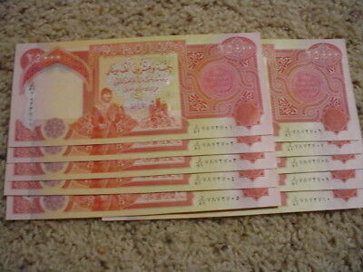Ten (10) Iraqi 25,000 Dinar notes - Look to be nice uncirculated consecutive #